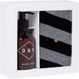 Oak Beard Wash 200ml in box met Burlington sokken